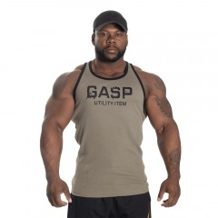 Спортивная майка GASP Ribbed T-Back, Wash Green