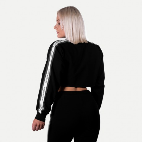 Укороченный свитшот Better Bodies Chrystie cropped Longsleeve, Black