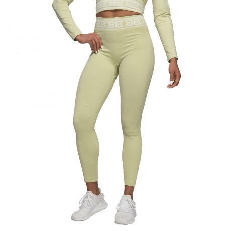 Леггинсы Better Bodies Rib Seamless Leggings, Mellow Green Melange