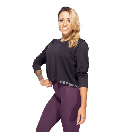 Лонгслив Better Bodies Rockaway Seamless Long Sleeve, Black