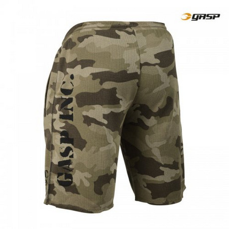 Спортивные шорты GASP Thermal Shorts, Green Camoprint