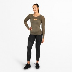 Топ с длинным рукавом Better Bodies Highbridge Mesh LS, Wash Green
