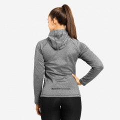 Толстовка Better Bodies York Zip Hood, Dark Grey Melange