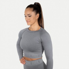 Топ с длинным рукавом Better Bodies Rib Seamless Long Sleeve, Greymelange