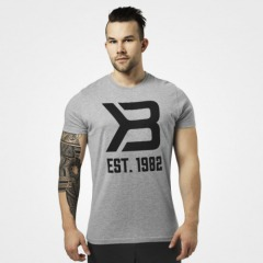 Футболка Better Bodies Washington Tee, Grey Melange