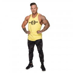 Спортивная майка Better Bodies Team BB Stringer V2, Lemon Yellow