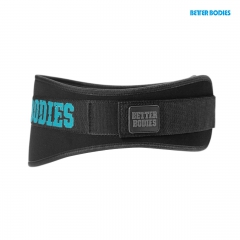 Неопреновый пояс Better Bodies Womens Gym Belt, Black/Aqua