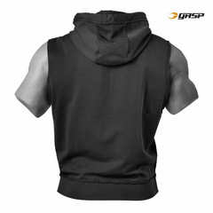 Безрукавка GASP Throwback Zip Hood, Washed Black