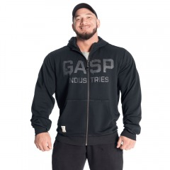 Толстовка GASP layered hood, Washed Black